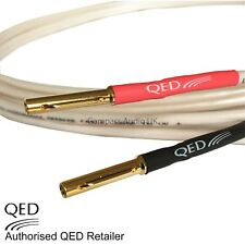 QED ORIGINAL 1 x 1m OFC Speaker Cable AIRLOC Banana Plugs Heatshrink Terminated