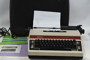 Brother Electric 5513 Portable Typewriter with Case - Vintage 1977 - RARE
