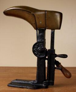 Antique Lacoste Villeneuve-Sur-Lot Shoe Last. Metal Cobbler Boot Shop Display