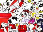 62 Snoopy Woodstock Charlie Brown Peanuts Fanart Cartoon Dog Anime Stickers BL