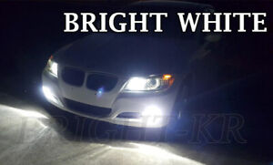 BMW 3 Series E90 SMD LED Fog Light Bulbs - XENON 6000K WHITE ERROR FREE