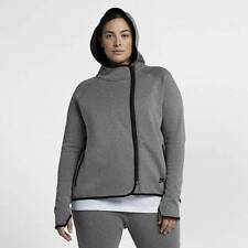 Women's Nike Sportswear Tech Fleece Full-Zip Cape Hoodie Grey 1X AH3969 091