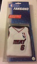 LeBron James #6 Miami Heat Wristband by Fanband One Size Fits All