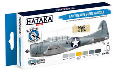 Hataka HTK-BS53 Blue Line (Brush-Dedicated): Early USN & USMC Camo- 6 Colors