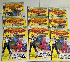 Lot of 9 Vintage Original Marvel Comic Books Spiderman The Punisher # 129 LGF