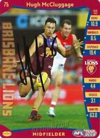✺Signed✺ 2019 BRISBANE LIONS AFL Card HUGH MCCLUGGAGE