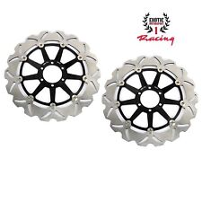 Front Brake Disc Rotors Set For Aprilia RSV1000R Factory Tuono Mana Wave Rotors