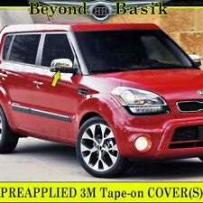Fits 2010 2011 2012 KIA Soul Triple Chrome Mirror Covers Top Overlays Trims ABS
