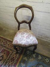 H065Louis Philippe Chippendale 1 Stuhl mit Rund Lehne  und  Polster Antik