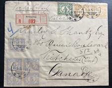 1930 Semarang Netherlands Indies Wax Seal Cover To Kitchener Canada
