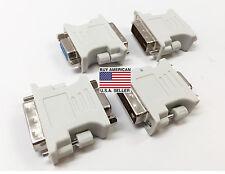 Generic 24+5pin DVI-I Dual-Link (M) to 15-Pin VGA (F) Adapter (lot of 4)