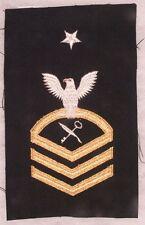 USN Navy Rate:  SCPO Ship's Serviceman - tinsel on black