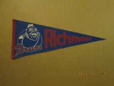 IL Richmond Braves Vintage Defunct Circa 1970's Team Logo Baseball Pennant