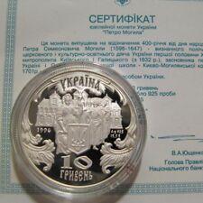 PETRO MOHYLA Holy Priest Ukraine Rare 1996 Silver 1/2 Oz Proof 10 UAH Coin KM#34
