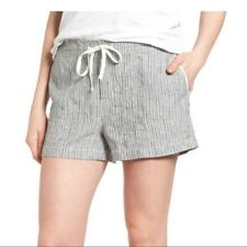 CASLON Linen Ivory-Black Seaside Stripe Shorts Size XXL NWT Summer Vacation!