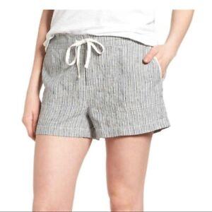 CASLON Linen Ivory-Black Seaside Stripe Shorts Size XXL NWT Summer Vacation!