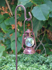 Miniature Dollhouse FAIRY GARDEN Accessories ~ Brown Lantern w Shepherd's Hook