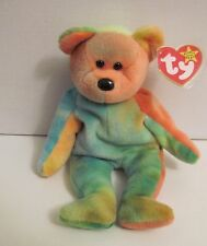 TY BEANIE BABY GARCIA - BEAUTIFUL COLORS -TEDDY BEAR WITH 15 TAG ERRORS -  RARE