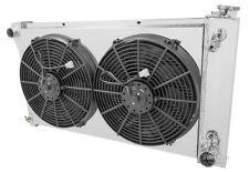 """67 - 72 Chevy C10 C20 K10 K20 K30 4 Core DR Radiator + Shroud & 14"""" Fans"""