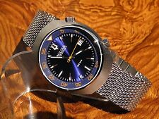 Bulova Accutron II Lobster Sport Watch ( UHF , Mesh Bracelet , Blue Dial )
