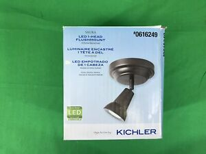 Kichler, Saura LED Rubbed Bronze Dimmable Flush Mount Fixed Track Light Kit