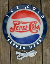 PEPSI SIGN OLD VINTAGE ANTIQUE STYLE LIGHTED SIGN