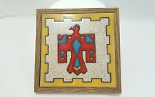 Ceramic Tile Hand painted with Wooden Frame by Fiesta Tiles Arizona June 1983