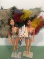 Fiona Original Fabulous Las Vegas Showgirl 1979 Vtg Lot 2 Burlesque Doll OOAK