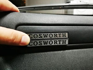 Ford Escort RS COSWORTH BANANA POD Emblem - Badge Logo Gauge Dash Interior