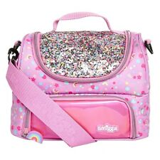 "OFFICIAL *SMIGGLE* ""DREAMY"" Pink Glitter Sparkly Girls LunchBox Lunch Box Bag 💕"