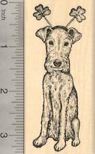 St. Patrick's Day Irish Terrier Dog Rubber Stamp J20710 Wm