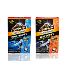 Armor All Ultra Shine 12 WASH + 12 WAX WIPES XL Cleaning + Waxing Kit Auto Care
