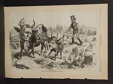 Harper's Weekly Single Pg The Democratic Team Political Cartoon  1876 A8#31