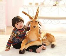big plush Sika deer toy lovely simulation lying Sika deer doll gift about 90cm