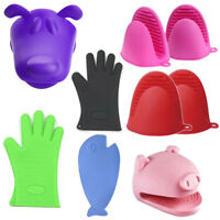 Oven Mitt Silicone Glove Cooking Barbecue BBQ Christmas Kitchen Accessories Gift