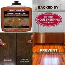 Wood Floor Polish & Restorer 32 OZ High Traffic Hardwood Natural Shine Removes S