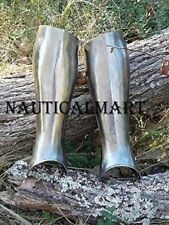 Medieval SCA leg armor, Gothic fluted Medieval leg Guards