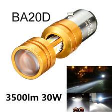 1Pcs 360° BA20D COB LED Hi/Lo Beam 30W Motorcycle Headlight Vibration Resistant