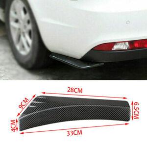 1Pairs Carbon Fiber Splitter Diffuser ABS Canards Protector For Car Rear Bumper