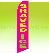 Feather Flutter Swooper Banner Sign Tall 11.5' Flag - Shaved Ice pb
