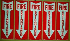 4x12 vinyl fire extinguisher sign self adhesive   (5pk) WOW!!!  WHAT A DEAL