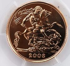 2008 Gold Sovereign BU PCGS MS69 Great Britain UK 'Top Pop'