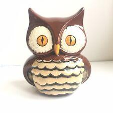 Vintage Ceramic Owl Coin Piggy Bank Robroy Rob Roy Golf Ball Eyes Plaster Totoro
