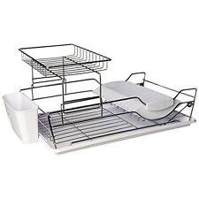 Home Basics Dd44624 2-Tier Dish Drainer White New