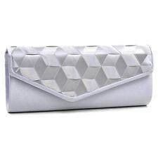 Dasein Women Evening Bag Envelope Bag Woven Ribbon Clutch with Chain Strap
