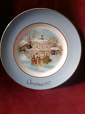 "Avon collector plate Christmas 1977 "" Carollers in the Snow"""