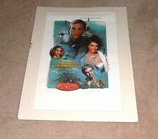 VINTAGE JAMES BOND SEAN CONNERY THUNDERBALL PRINT SIGNED BY ARTIST