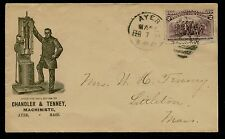 """#231 ON 1894 LARGE ADVERTISING """"CHANDLER & TENNEY MACHINISTS"""" COVER  BQ2443"""