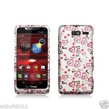 Motorola Droid Razr M xt907 SNAP-ON HARD CASE COVER ACCESSORY LOVE YOU 2D