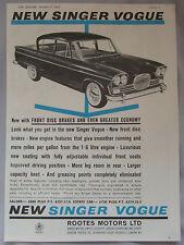 1962 cantante Vogue Original anuncio No.2